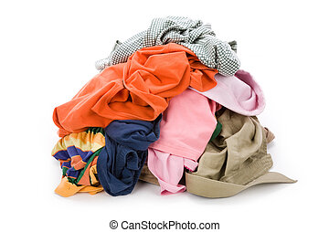 dirty clothing with white background