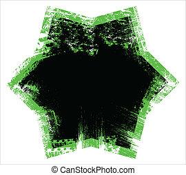 Dirty Edges Star Frame Vector