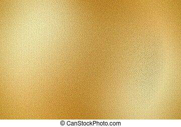 Dirty golden metal wall, abstract texture background