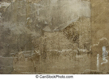 dirty gray beige old worn concrete wall