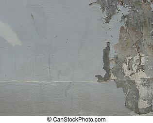 dirty gray blue damaged worn wall