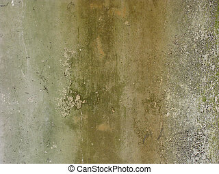 dirty gray green wall with dirt