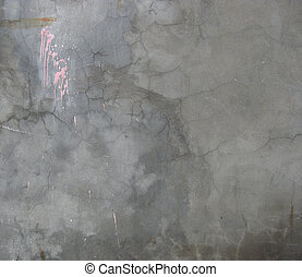 dirty gray worn wall with pink paint splat drip
