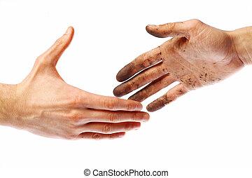 Dirty handshake