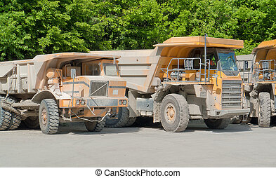 dirty haul trucks