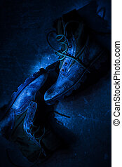 Heavy Duty Boots - Dirty Heavy Duty Boots Laying on the ...