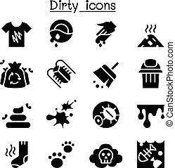 Dirty icon set