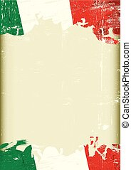 Dirty italia flag background - A grunge italan background...