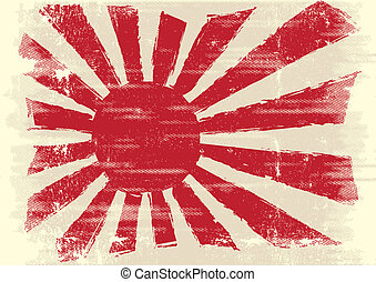 Dirty japan flag