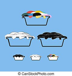 Dirty laundry basket design set