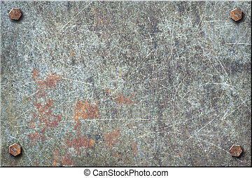 Dirty Metal Plate - Dirty, heavily scratched metal plate...