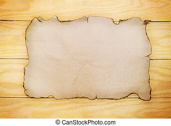 paper on wooden boards