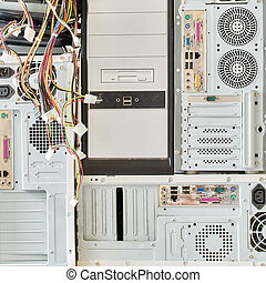 dirty old computers for electronic recycling