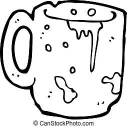dirty old mug cartoon