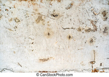Dirty old rusty grunge white metal background
