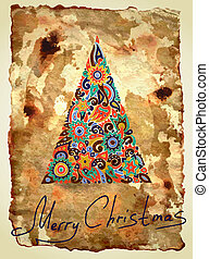 dirty ornamental christmas design