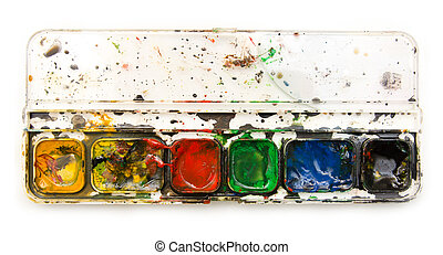 dirty paint on a white background