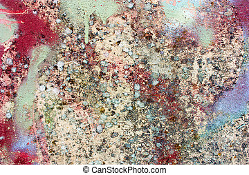dirty painted wall
