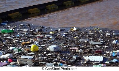 Dirty Pollution on Sea Water
