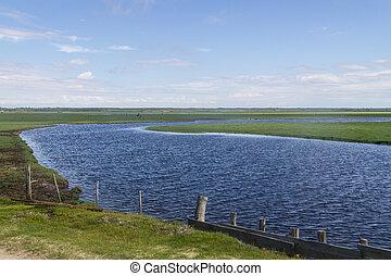 Dirty road to Lagoa do Peixe lake