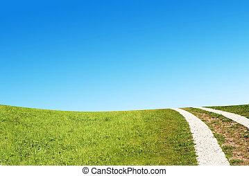 Dirty rural road in countryside