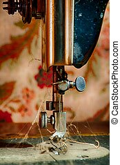 Dirty Sewing Machine - Retro Sewing Machine - fragment of...