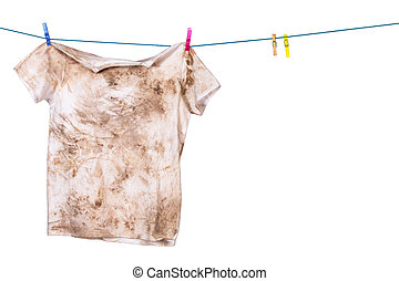 dirty shirt hanging to dry