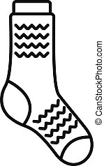 Dirty sock icon outline vector. Sport wool item