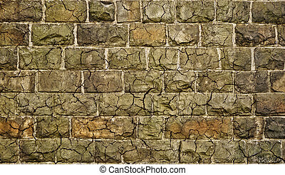 Dirty stone grunge wall with cracks