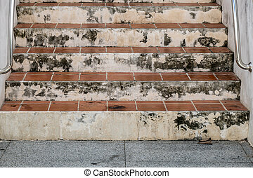 Dirty Tile Staircase