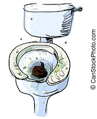 Dirty toilet isolated
