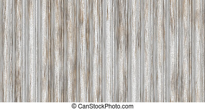 Dirty white fluted metal fencing backdrop. Corrugated metal texture. Crimp fence background. Ribbed metallic surface. Wavy iron wall pattern.