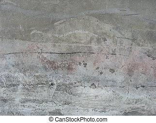 dirty worn damaged beige white pink gray wall