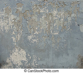 dirty worn gray blue brown wall