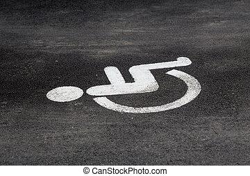 disability, знак, на, , стоянка, lot.