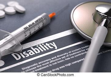 disability, -, медицинская, концепция, на, серый, background.