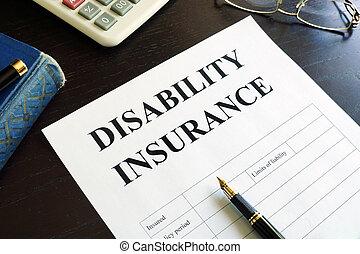disability, страхование, на, , table.