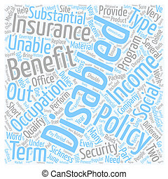 disability, страхование, онлайн, текст, задний план, wordcloud, концепция
