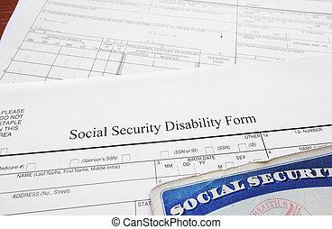 disability, форма
