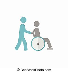 Disability Flat Icon - Disability. Medical Flat Icon. Vector...