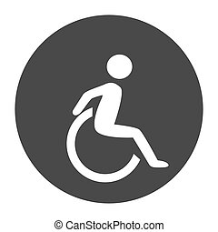disability human chair symol