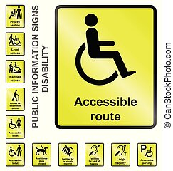 Disability Information Signs