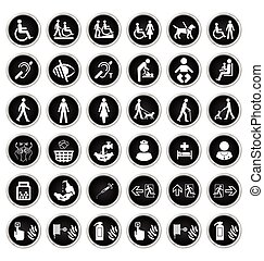 Disability people and medical Icon