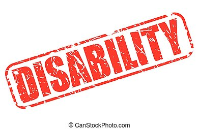 DISABILITY red stamp text