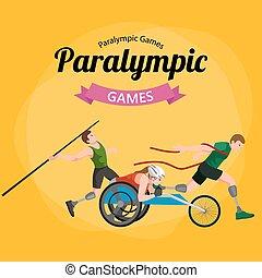 Disable Handicap Sport Games Stick Figure Pictogram Icons -...