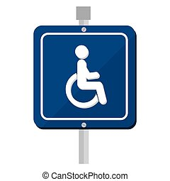 disable parking zone sign
