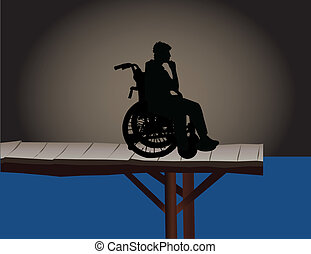 Disabled - a conceptual illustration