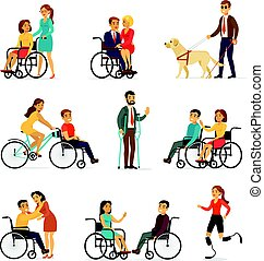 Disabled And Handicapped Set