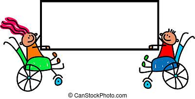 disabled, børn, tegn