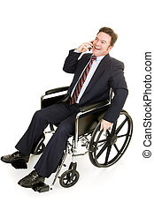 Disabled Businessman on Phone